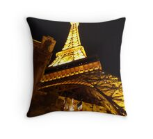 Las Vegas Street view at night Throw Pillow