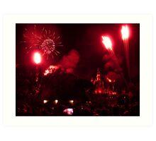 Disneyland Fireworks Art Print