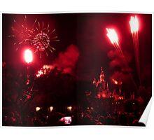 Disneyland Fireworks Poster