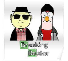 Breaking Beaker and Bunsen Poster