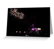 Fireworks at Disneyland Greeting Card