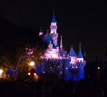 Disney Fairytale Castle at Night by FangFeatures