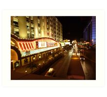 Vegas Street at Night Art Print