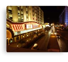 Vegas Street at Night Canvas Print