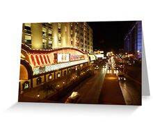 Vegas Street at Night Greeting Card