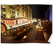 Vegas Street at Night Poster