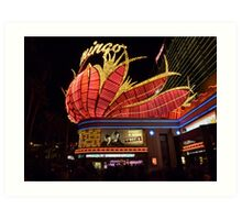 Las Vegas, The Flamingo at night. Art Print