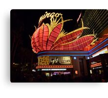 Las Vegas, The Flamingo at night. Canvas Print