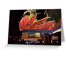 Las Vegas, The Flamingo at night. Greeting Card