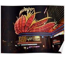 Las Vegas, The Flamingo at night. Poster
