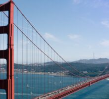 Golden Gate Bridge, Sunny Day Sticker