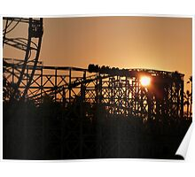 Rollercoaster at dusk Poster