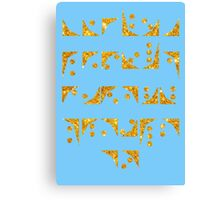 Nox font Stargate typography golden texture Canvas Print