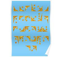Nox font Stargate typography golden texture Poster