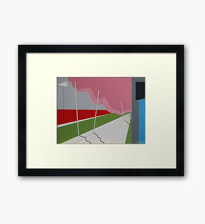 the looming pink - landscape painting Framed Print