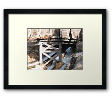 Flowing Water Through Structure Framed Print