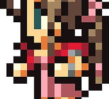 Aerith Gainsborough sprite by Greven