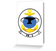VR-3 Crest Greeting Card