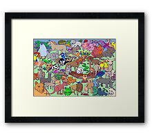 World Wildlife - Coloured Framed Print