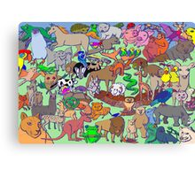 World Wildlife - Coloured Canvas Print