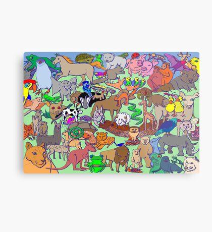 World Wildlife - Coloured Metal Print