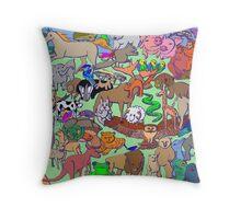 World Wildlife - Coloured Throw Pillow