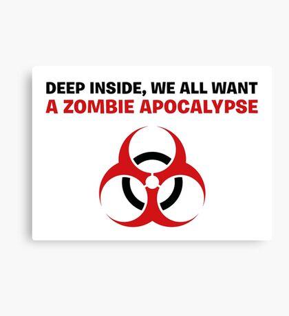 Zombie Apocalypse Canvas Print