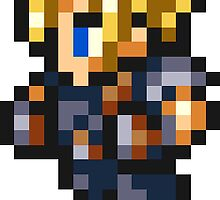 Cloud Strife sprite by Greven