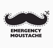 Cut Out Emegency Mustache T-Shirt