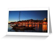 Cais da Ribeira of Oporto, Portugal Greeting Card