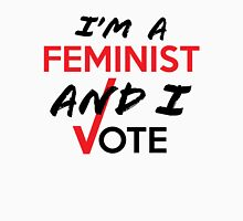 I'm A Feminist And I Vote Womens Fitted T-Shirt