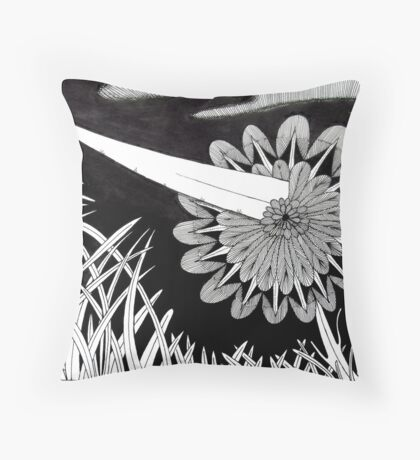 243 - THE PIERCED FLOWER - DAVE EDWARDS - INK - 2013 Throw Pillow