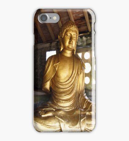 Buddha in Portmeirion Wales iPhone Case/Skin