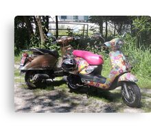 The Hippy and The Rocker Metal Print