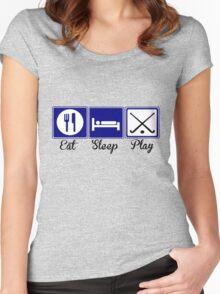 Eat, Sleep, Play - Field Hockey Women's Fitted Scoop T-Shirt