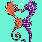 Seahorse Bubble Kisses by offleashart