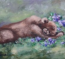 Sleeping Buddies II Bear and Mouse by Brenda Thour