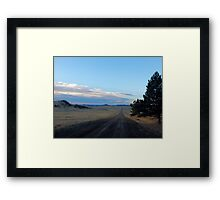 80 more miles (across the high lonesome) Framed Print