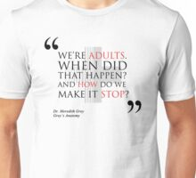 "Grey's Anatomy -  ""We're adults..."" Unisex T-Shirt"