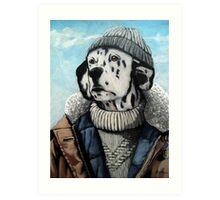 MAN OF THE SEA - Dalmatian dog portrait  Art Print