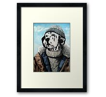 MAN OF THE SEA - Dalmatian dog portrait  Framed Print