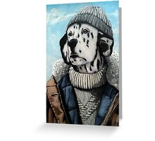 MAN OF THE SEA - Dalmatian dog portrait  Greeting Card