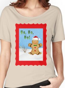 Happy Gingerbread Man in Snow Women's Relaxed Fit T-Shirt