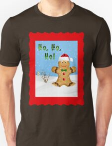 Happy Gingerbread Man in Snow T-Shirt