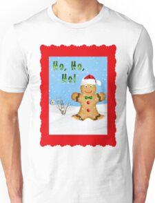 Happy Gingerbread Man in Snow Unisex T-Shirt