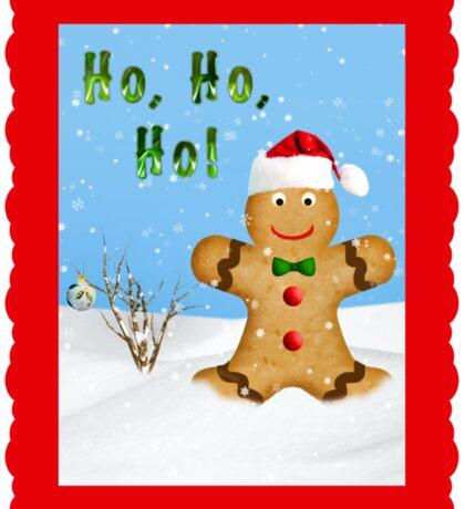 Happy Gingerbread Man in Snow Sticker