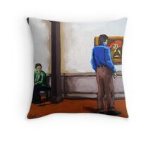 Mutual Interest - art museum viewing art Throw Pillow
