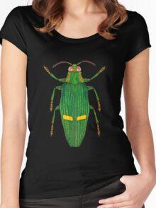 Opulent jewel beetle Women's Fitted Scoop T-Shirt