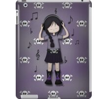 Emo Goth Girl with Music Headphones iPad Case/Skin