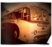 Llandudno Tour Bus Vintage Poster